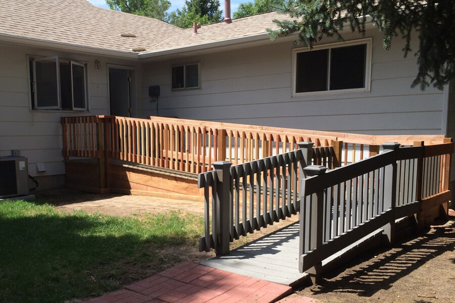 Durable wheelchair ramp for at-home senior living and accessibility.