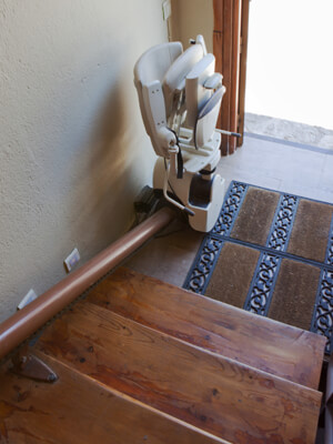 Installation of a stairlift in Colorado Springs.